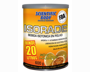 SCIENTIFIC BODY ISORADE BEBIDA ISOTONICA EN POLVO 600GR MANZANA